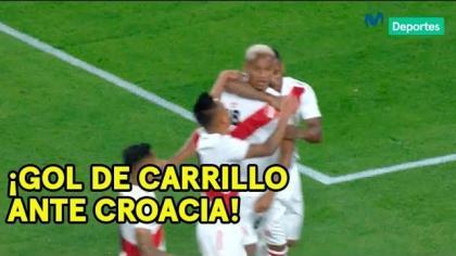 Perú vs. Croacia: revive el gol de André Carrilo que abrió el marcador en Miami