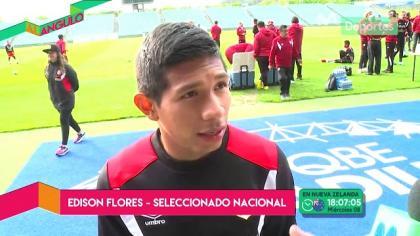 Edison Flores habló acerca del partido entre Nueva Zelanda y Perú