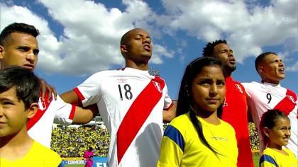 Perú vs. Ecuador: El Himno Nacional por todo lo alto en el estadio Atahualpa