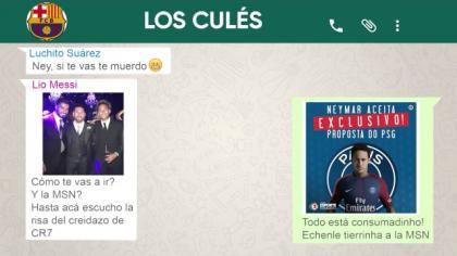 ¿Qué se dijeron en el WhatsApp del Barcelona tras enterarse de la partida de Neymar?